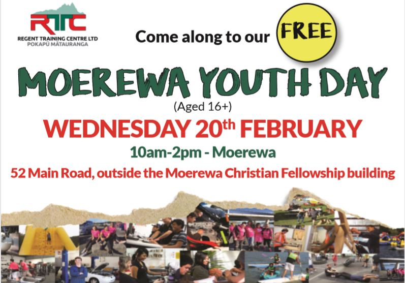 RTC Moerewa Youth Day - come on down, it's free!