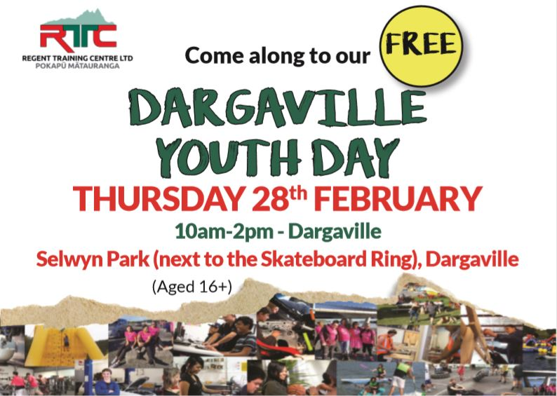 FREE Dargaville YOUTH DAY OUT with RTC!